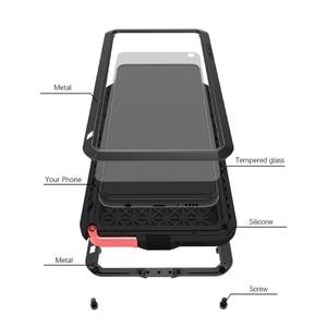 Image 3 - Miłość Mei obudowa marki dla Samsung Galaxy A9 A6 A8 Plus 2018 S10 Plus S10E S10 5G A70 2019 metalowy pancerz, odporna na wstrząsy telefon obudowa