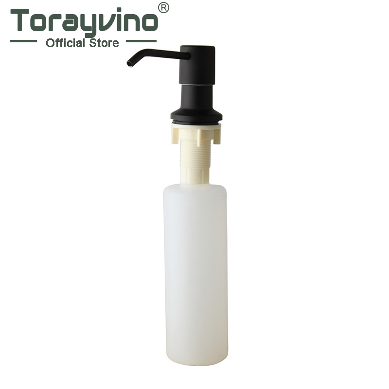 Torayvino Kitchen Sink Deck Mounted Soap Dispenser Plastic Black Oil Rubbed Bronze Painting Soap Dispenser  5155B