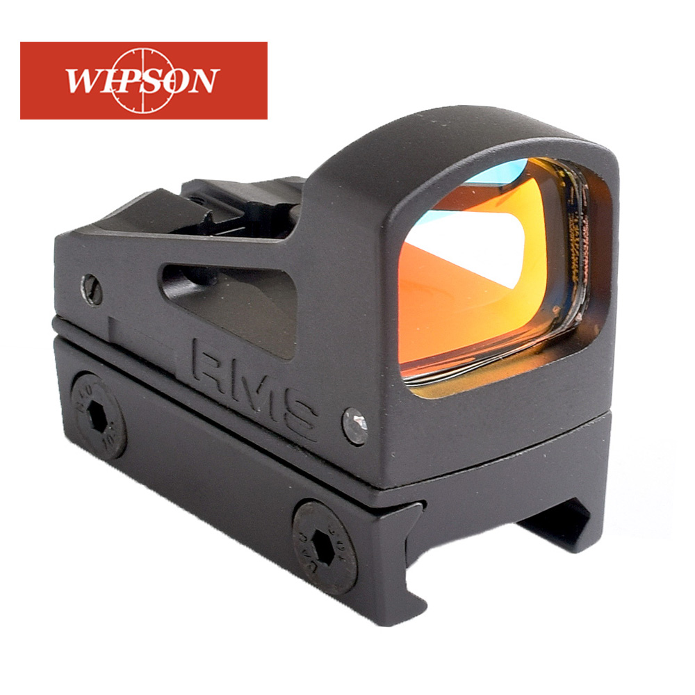 WIPSON Tactical RMS Reflex Mini Red Dot Sight Scope With Ventilated Mounting And Spacers For Airsoft Glock Pistol