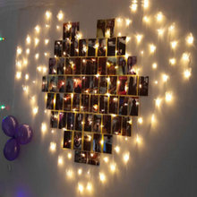 2 x 1.5M Hearts Shape LED String Curtain Light Christmas For Wedding Party Decoration Luminarias 220V
