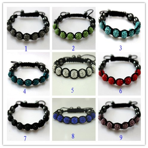 50% discount Hot selling clay rhinestone beads shamballa beads bracelet Free Shipping