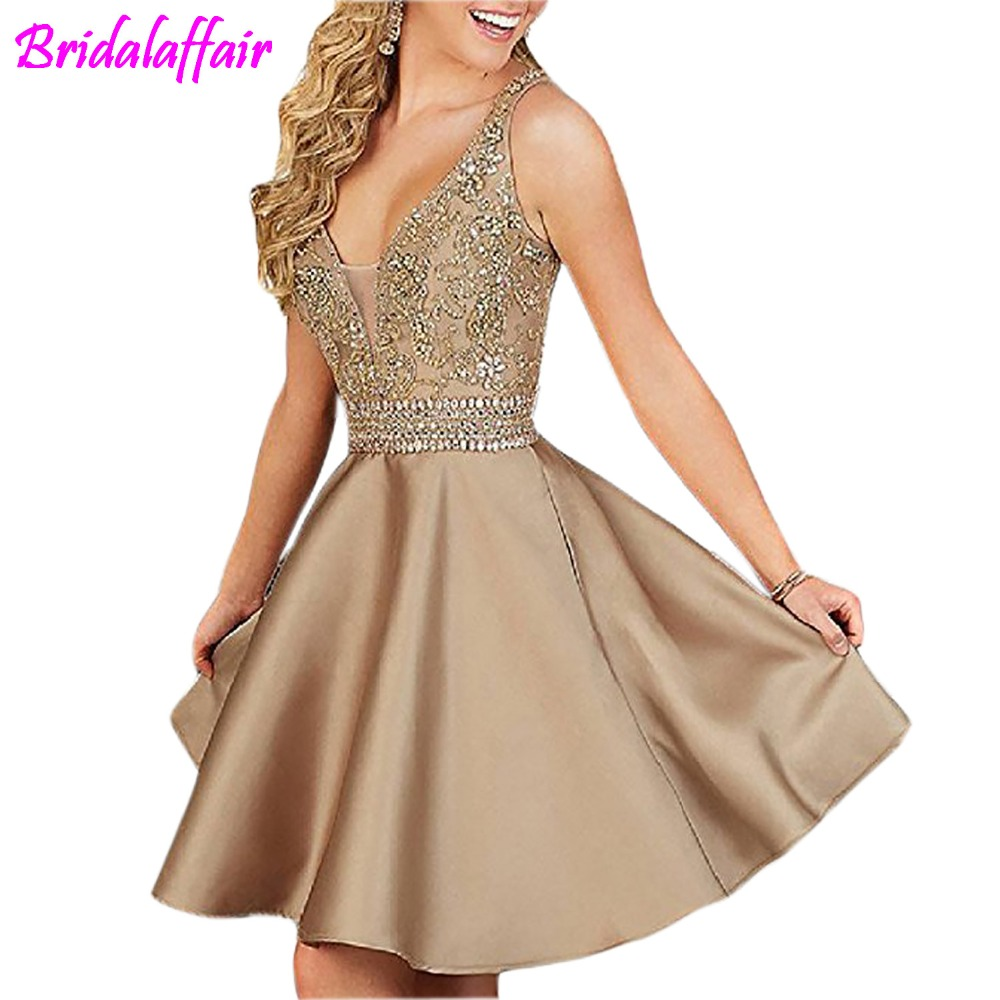 Halter Prom special occasion Dresses Beading Elegant Homecoming Dresses Short vestido de formatura Graduation Dresses For