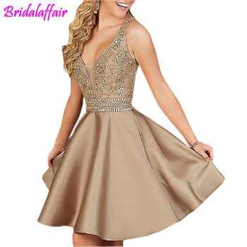 Halter Prom special occasion Dresses Beading Elegant Homecoming Dresses Short vestido de formatura Graduation Dresses For Women - Category 🛒 Weddings & Events