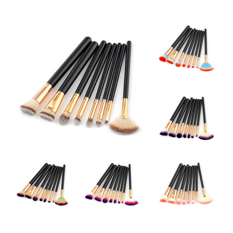 Pro Makeup Brush Set Powder Foundation Brush Eyebrow Eyeshadow Cosmetic Make Up Tools Toiletry Kit for Women 10Pcs/set new lcbox professional 16 pcs makeup brush set kit pouch bag cosmetic brush kit cosmetic powder foundation eyeshadow brush tools