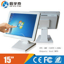 5 pieces /desktops with Celeron C1037U1.8GHz 15″ LED panel screen Resolution 1024×768 Resistivetouch all in one pc computer