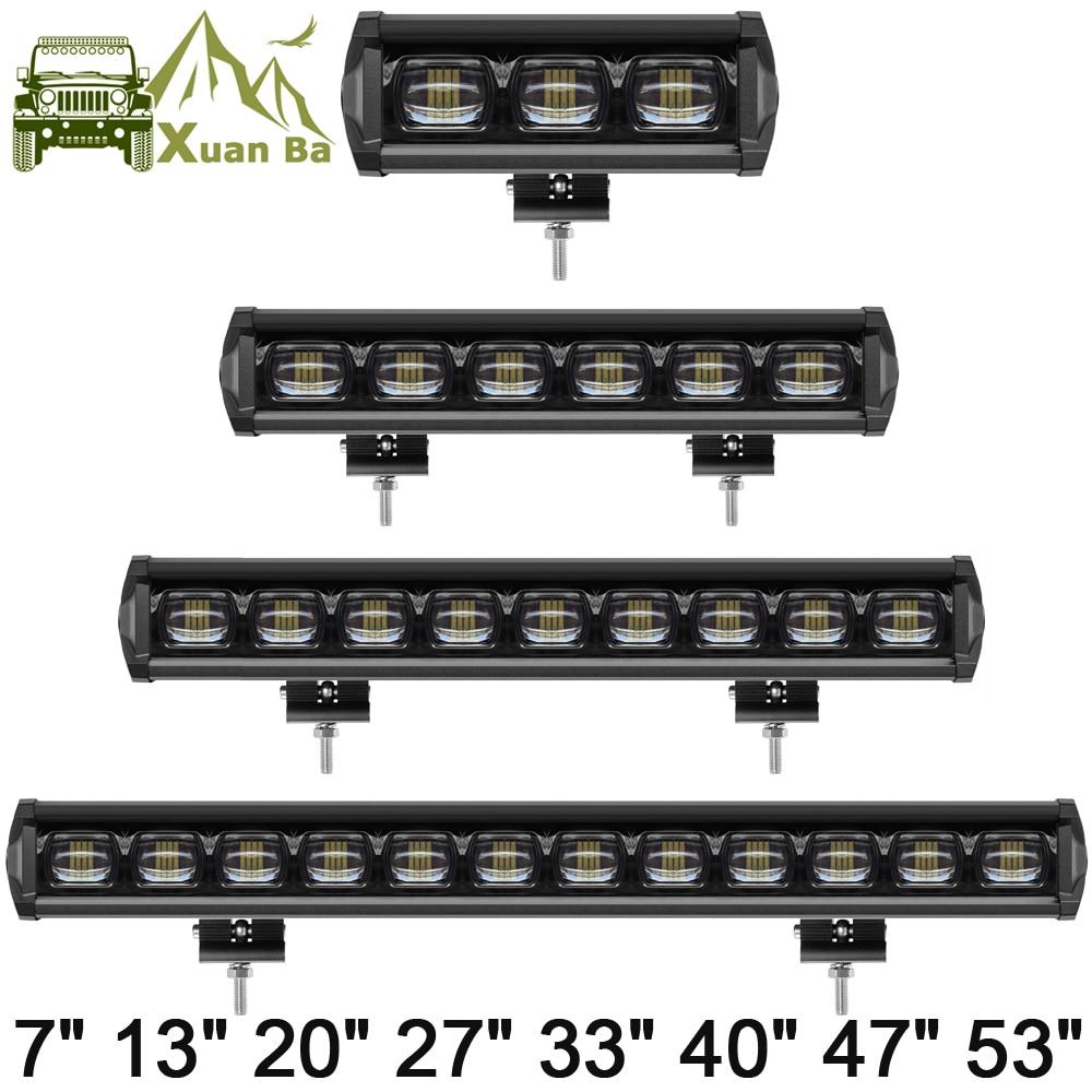 6D lentille 30 W 60 W 120 W 210 W LED une rangée lumière 4x4 Offroad Bar pour Off road 4WD camion ATV 12 V 24 V remorque étanche feux de travail