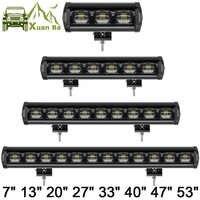 Lente 6D 30W 60W 120W 210W luz Led de una sola fila 4x4 barra todoterreno para todoterreno 4WD camión ATV 12V 24V remolque luces de trabajo impermeables