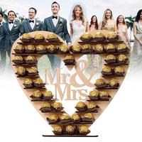 Wedding Decorations Mr & Mrs Chocolate Stand Heart Tree Candy Bar Stand Wedding Centre Display Stand Centerpiece Party Supplies