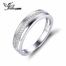 JewelryPalace Cubic Zirconia Anniversary Channel Set Marriage ceremony Band Eternity Ring 925 Sterling Silver For Ladies New Excessive High quality