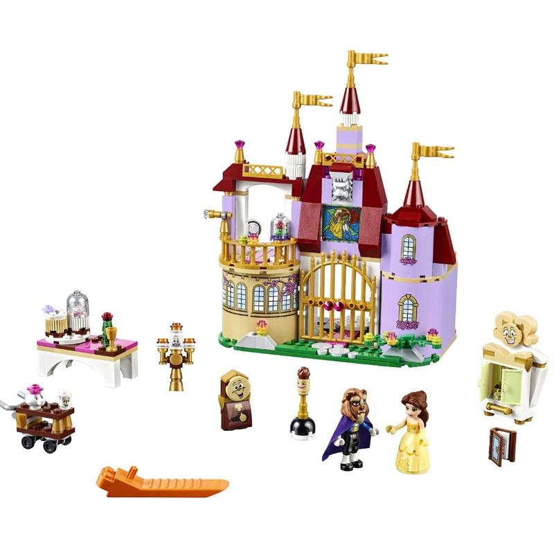 Qunlong 379pcs Princess Belles Enchanted Castle Building Blocks For Girl Friends Kids Model Toys Compatible Legoe Children Gift 1