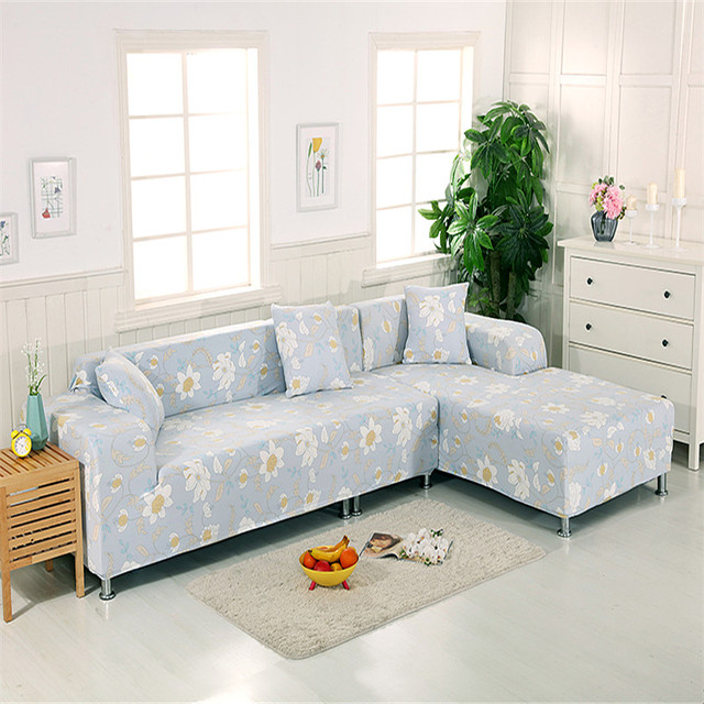 Simple And Elegant White Print Pattern Sofa Sets All Inclusive Universal  Sofa Cover All Cover