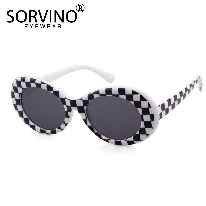 63d4bafb2d Sorvino Retro Oval Sunglasses 2018 Women Men Clout Goggles Kurt Cobain 90s  Designer Sun Glasses Purple
