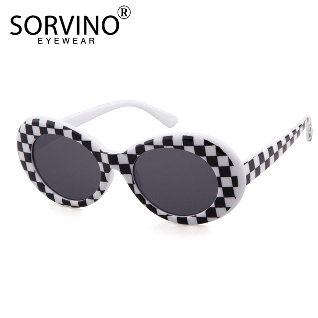 ffe94a1dfba Sorvino Retro Oval Sunglasses 2018 Women Men Clout Goggles Kurt Cobain 90s  Designer Sun Glasses Purple Pink Shades Oculos Svn75B