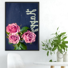 Rose Flower Canvas Nordic Poster Botanical Scandinavian Style Print Modern Wall Art Painting Decoration Picture for Living Room botanical print shirt