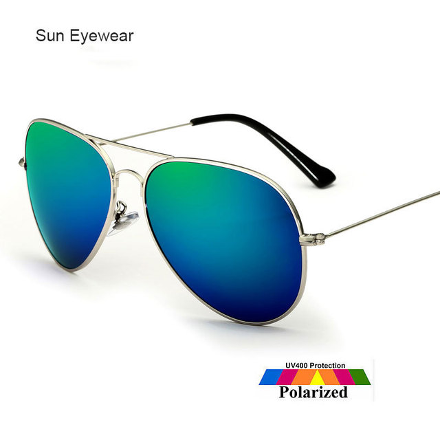 Oversize Women Sunglasses Polarized Sun Glasses for Men Colorful Mirror Lenses Brand Box