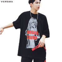 VERSMA New American Style Hip Hop Donald Trump 3D Printed T Shirts Men Free Size Hit