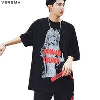 VERSMA New American Style Hip Hop Donald Trump 3D Printed T Shirts Men Free Size Hit