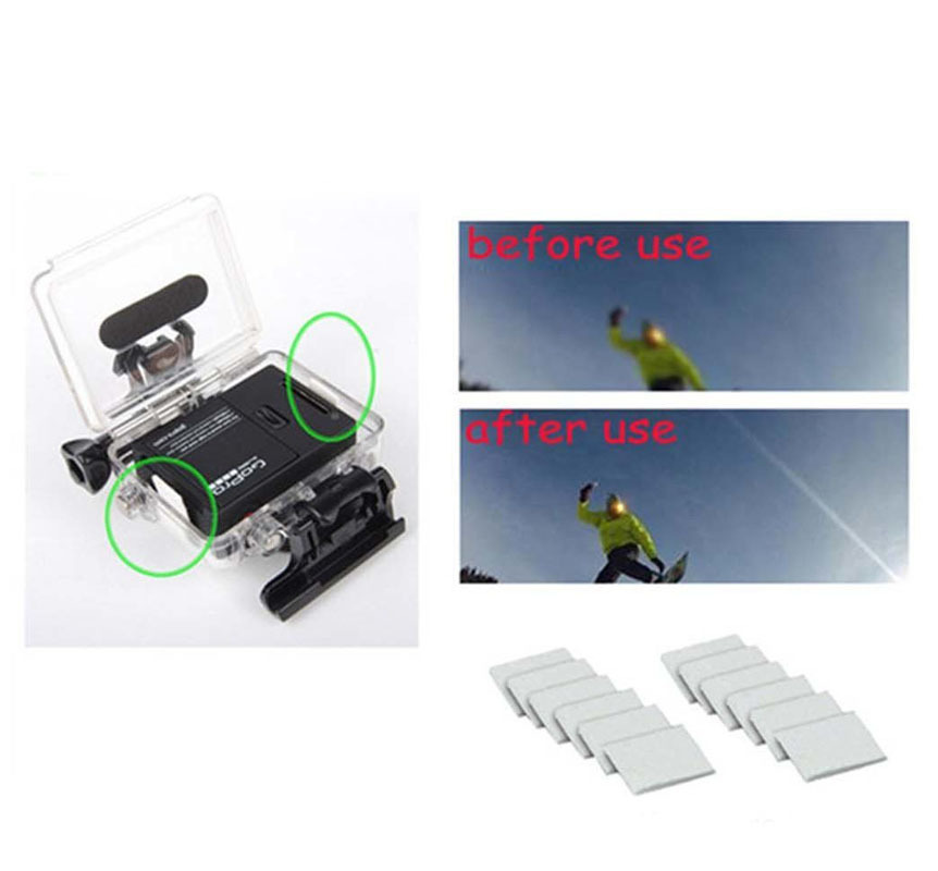 Image 2 - Kaliou Go Pro Accessories 12pcs/Lot Anti Fog Inserts Anti Fog Recycle Drying Inserts for Go pro 7 6 5 4 3+ 3 2 1 SJ4000 Sj8 pro-in Sports Camcorder Cases from Consumer Electronics