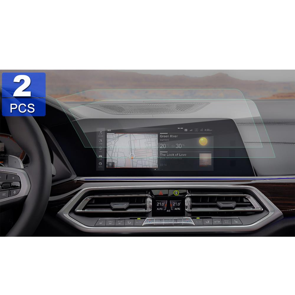 RUIYA 2Pcs PET screen protector for 2019 BMW X5 G05 12 3inch left rudder  car navigation display,invisible transparent protection