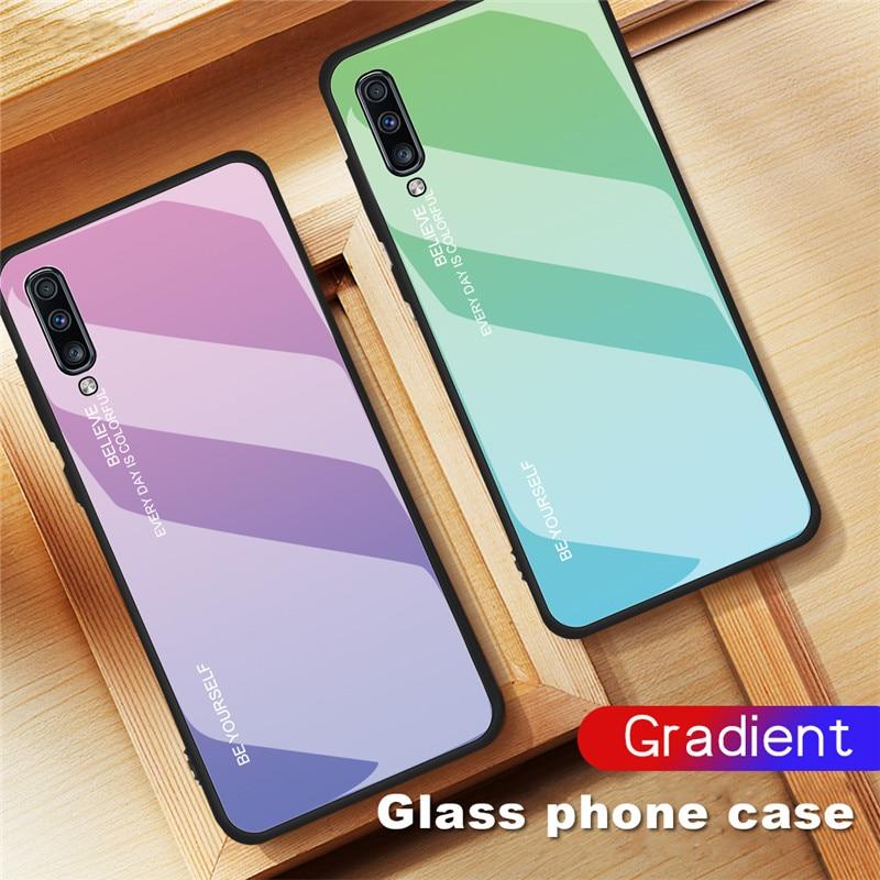 Para Samsung Galaxy A10 A20 A20E A30 A40 A50 A60 A70 A80 A90 caso de vidrio templado para M10 m20 M30 M40 cubierta Coque|Fundas antigolpes para teléfono|   - AliExpress