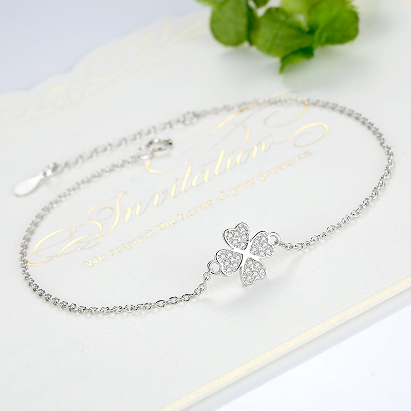 BELAWANG Authentic 100% 925 Sterling Silver Chain byzylyk femër CZ - Bizhuteri të modës - Foto 5