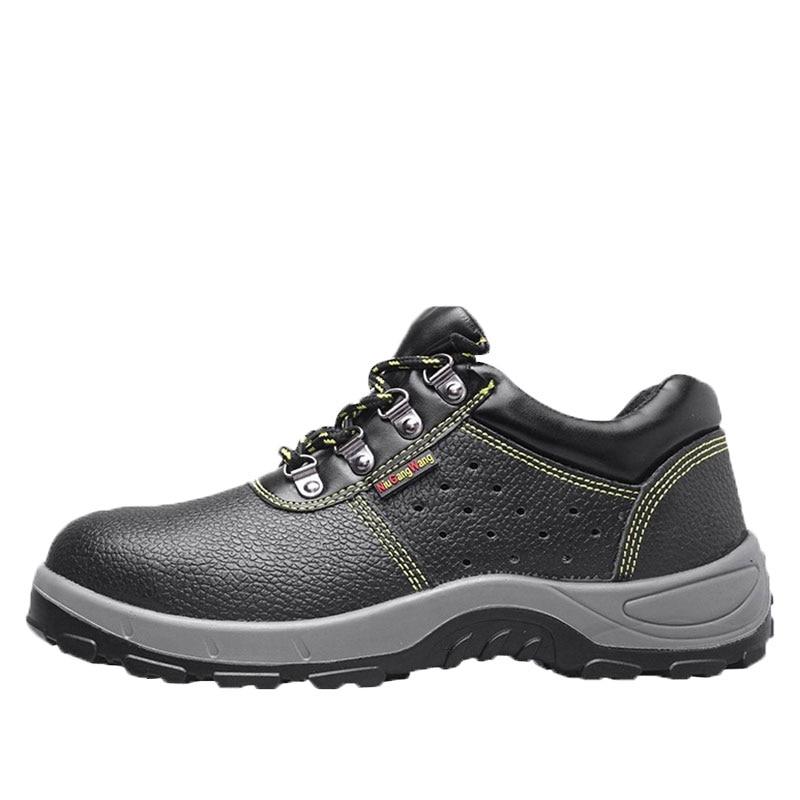 Couro Aa51608 Moda Punção Preto Isolamento Dos Homens Sapatos Trabalho Vintage De Estilo Botas À Calçados Prova Masculino Seguro Andando Do wpxXCUqna
