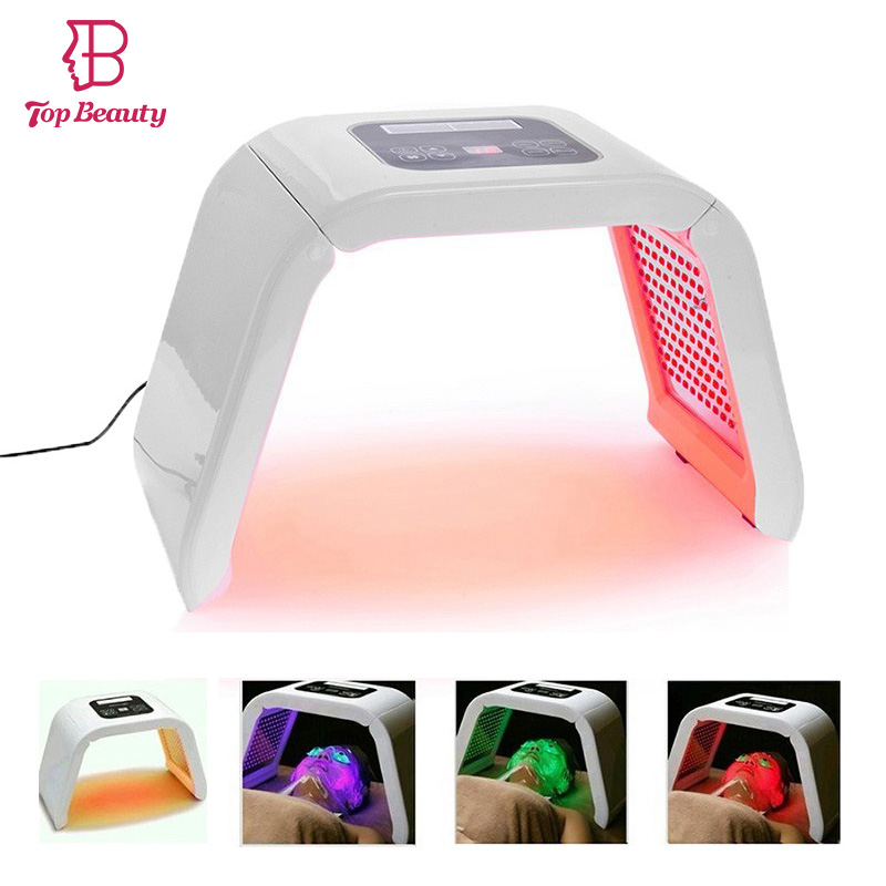 2018 New 4 Color LED Facial Mask Photon Skin Care Beauty Machine SPA PDT Therapy Skin Rejuvenation Acne Remover Anti-wrinkle bio wave pdt led photon light therapy face lifting skin tightening acne wrinkle remover skin care machine led beauty device