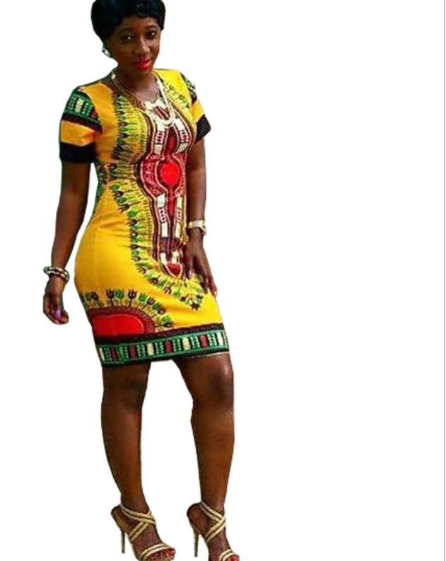 c7bce1db05 Buy blue african print dashiki dress and get free shipping on AliExpress.com