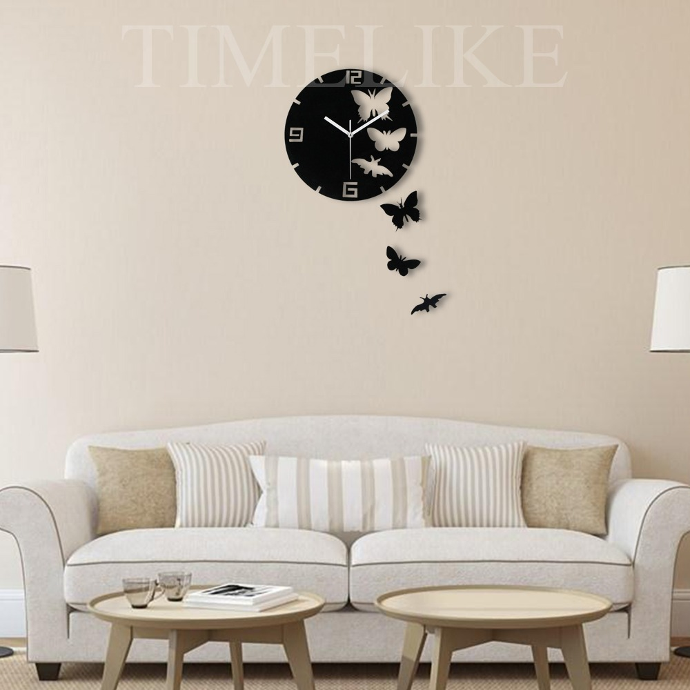Acquista all'ingrosso Online orologio da parete farfalla da ...