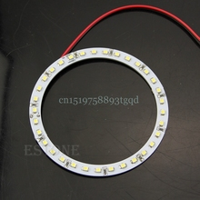 Hot  2Pcs Bright White 100mm Angel Eyes 33 SMD LED Ring Car Light#T518#