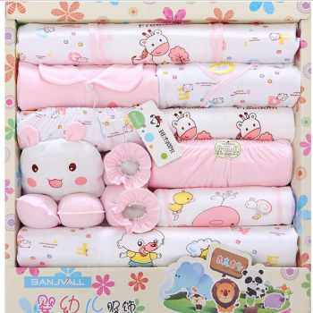18pcs/set Newborn Baby Clothing Sets Baby Boy Clothes Infants Suit Baby Girls Boys Clothes set baby romper bibs gloves hat