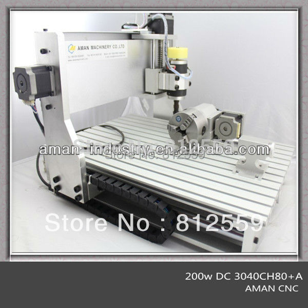 New 200W Four 4th 4 Axis 3040 CNC Router Cnc Engraver Milling Engraving Machine