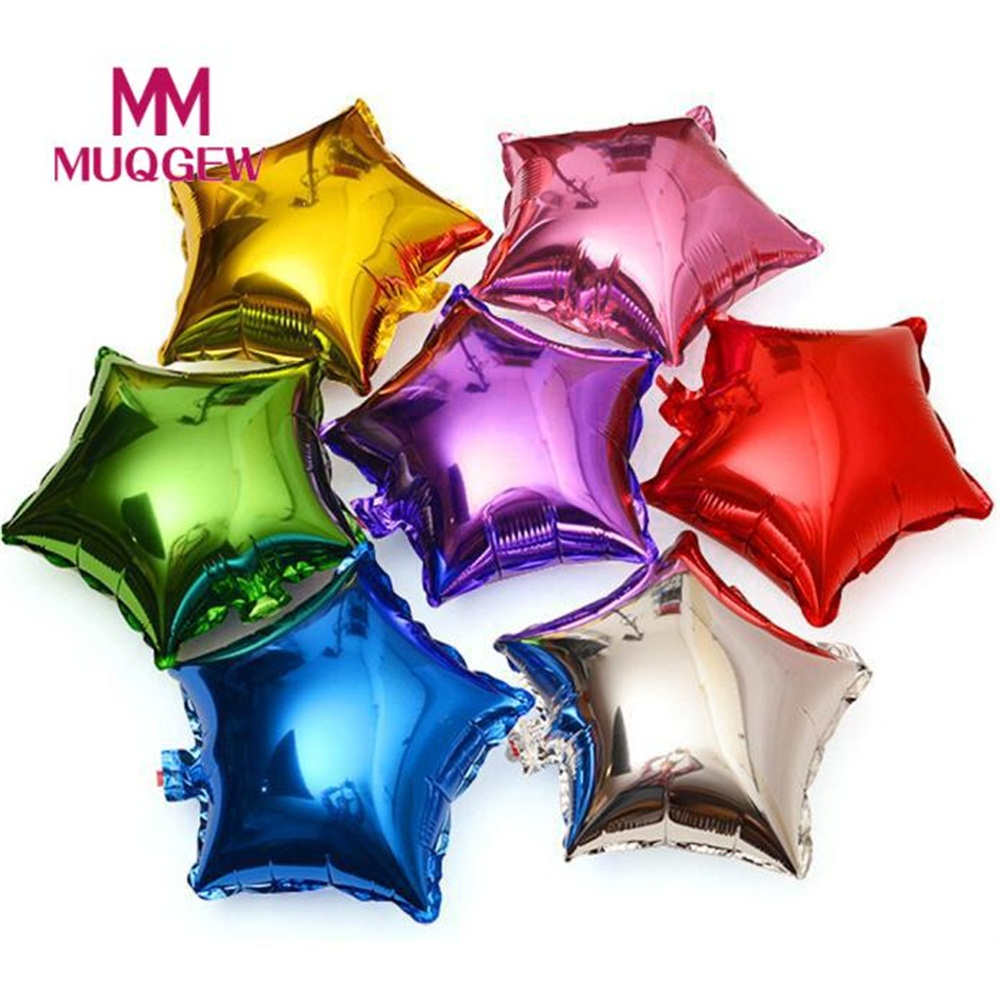 20185pcs18 inch Five-Pointed Star Shaped Foil Star Balloon Helium Metallic Birthday Summer outdoorWedding Birthday Decoration#35