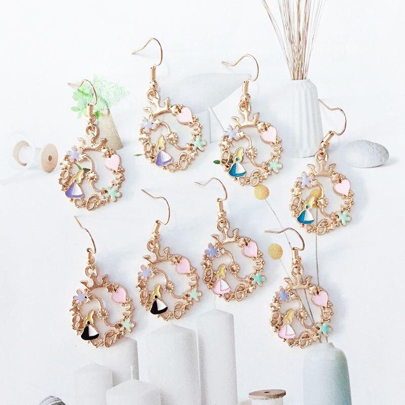 New Hot Sale Cute Love Flower Crown Earrings Noble Symbol Generous Glamour Female Ear Jewelry Earrings