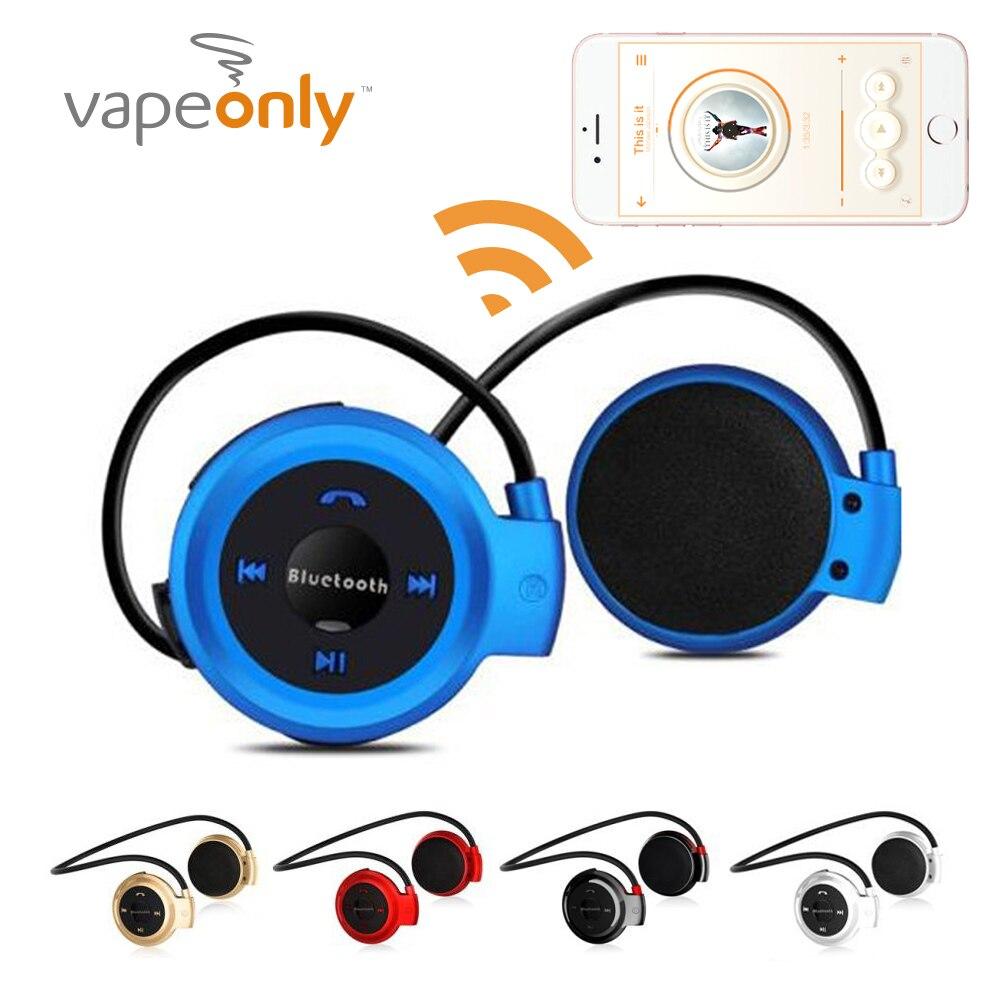 Vapeonly 503 Mini auriculares Bluetooth w/manos libres de MP3 reproductor inalámbrico estéreo deporte auriculares soporte tarjeta TF FM diadema auriculares