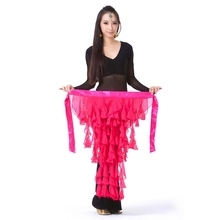 Sexy Belly Dance Costume Hip Scarf Belt Waves tassel Skirt 10 colours