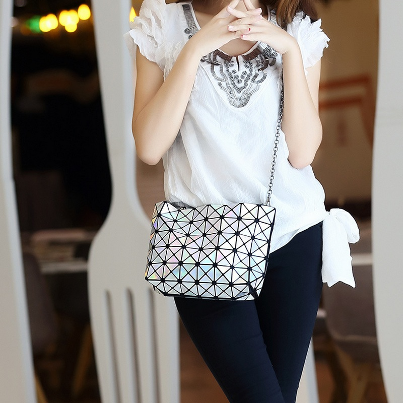 Diseñador Señora Cadena Diamond Lattice Bolsos Embragues del día - Bolsos - foto 5