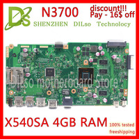 KEFU X540SA REV2.1 fit For ASUS X540SA N3050 CPU Laptop motherboard WITH 4GB MEMORY test motherboard work 100% pay 16$ discount