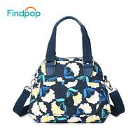 Findpop Flowers Printing Crossbody   Bags   For Women's Shoulder   Bag   2018 New Shell Crossbody   Bags   Waterproof Canvas Bolsa Feminina