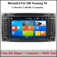 Win8 UI Pojemnościowy Samochodowy Odtwarzacz DVD Radio GPS dla Volkswagen VW Touareg Multivan T5 Transporter z Nawigacji GPS BT ipod, USB SD