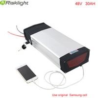 lithium ion 48v 1000w bafang electric bike battery 48v 30ah rear rack battery  with USB port