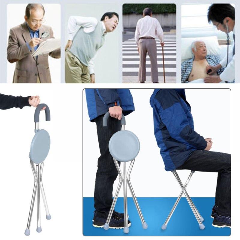 1pc Adjustable Folding Portable Aluminium Massage Walking