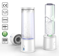 SPE/PEM Rich Hydrogen Water Bottle water Electrolysis Ionizer Generator USB Rechargeable removal O3CL2 Oxygen Separation X'mas