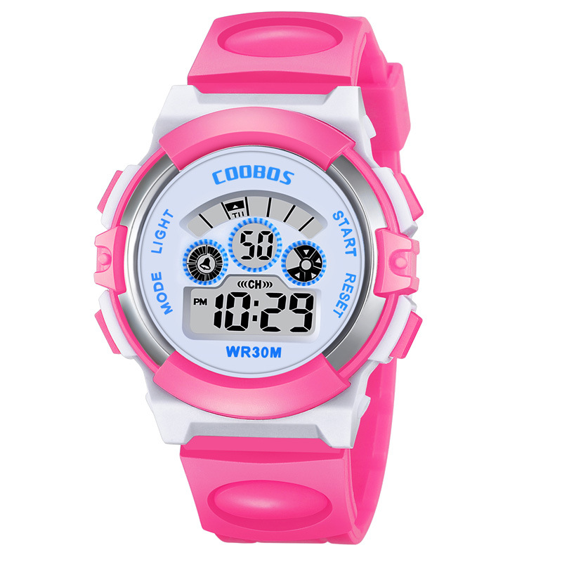Children's Watch Watreproof Rubber Band Outdoor Sport Digital Watch Kids Children Girls Boys Multifunction Kids Watches Luminous