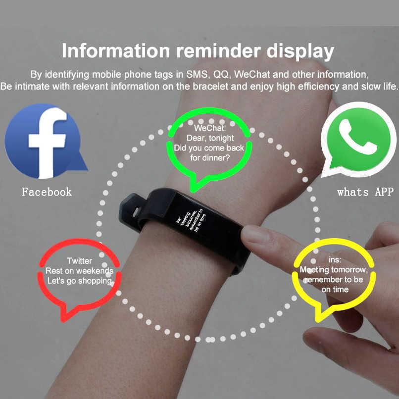 2019 Mới Vòng Đeo Tay Thông Minh Tập Thể Dục Tracker Bước Truy Cập Hoạt Động Màn Hình Ban Nhạc Đồng Hồ Báo Thức Rung cho IOS Android Người Đàn Ông Phụ Nữ Đồng Hồ