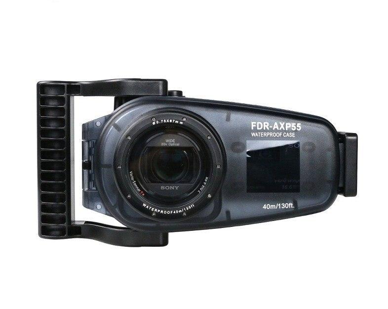 Nuevas llegadas 40 m/130ft para Sony FDR-AXP55 cámara de vídeo subacuática carcasa resistente al agua