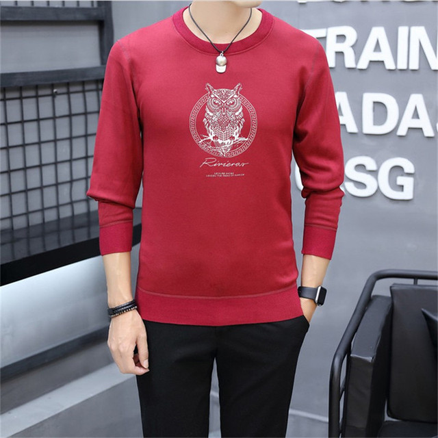 ced63abc371f Plus Size Men s Fleece Thick Keep Warm Hoddies Spring Autumn 2018 Long  Sleeve O-Neck Fashion Casual Sweatshirts Male Sweat Homme