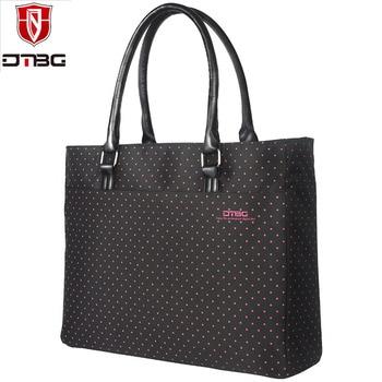 DTBG Brand 15.6 Inch Women Shoulder Bag Ladies Laptop Tote Bag Nylon Briefcase Casual Handbag Casual Travel Bag grande bolsas femininas de couro