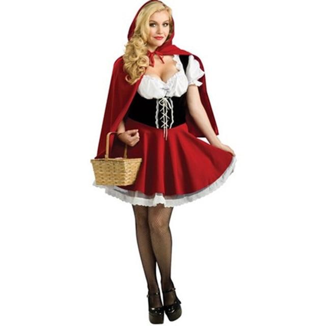 Halloween Sprookjes Kostuum.Us 18 62 15 Off Hoge Kwaliteit Vrouwen Volwassen Sprookje Kostuum Halloween Cosplay Roodkapje Jurk Plus Size S 6xl In Hoge Kwaliteit Vrouwen