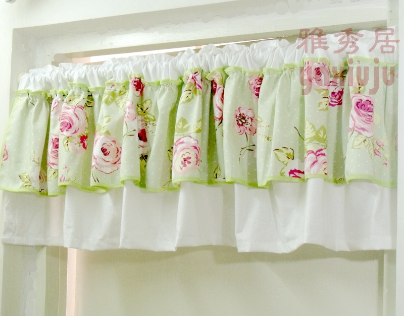 envo gratis sarga de algodn rosa de encaje a cuadros rstico pas semisombra cocina cortina cortinas
